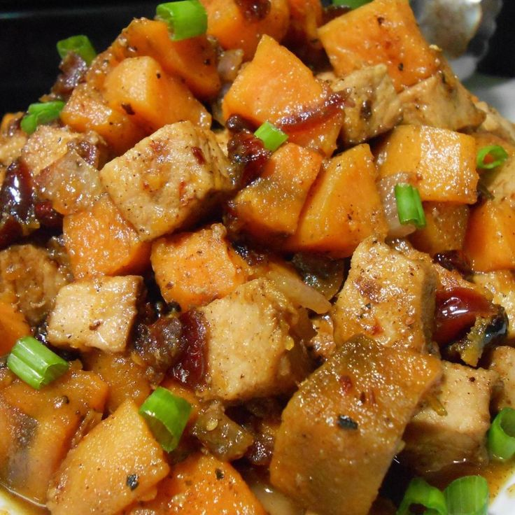 Sweet and Savory and screams Fall!!  An excellent way to use up leftover Pork Loin