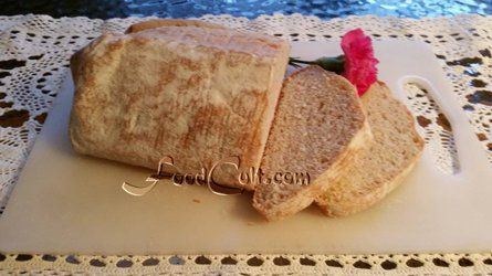 This #homemade #organic #calabrese #loaf of #bread is #baked directly on a #pizzastone. This #recipe is available with accompanying #instructional #video @ http://www.foodcult.com/calabresebread.php  #Food Matters!