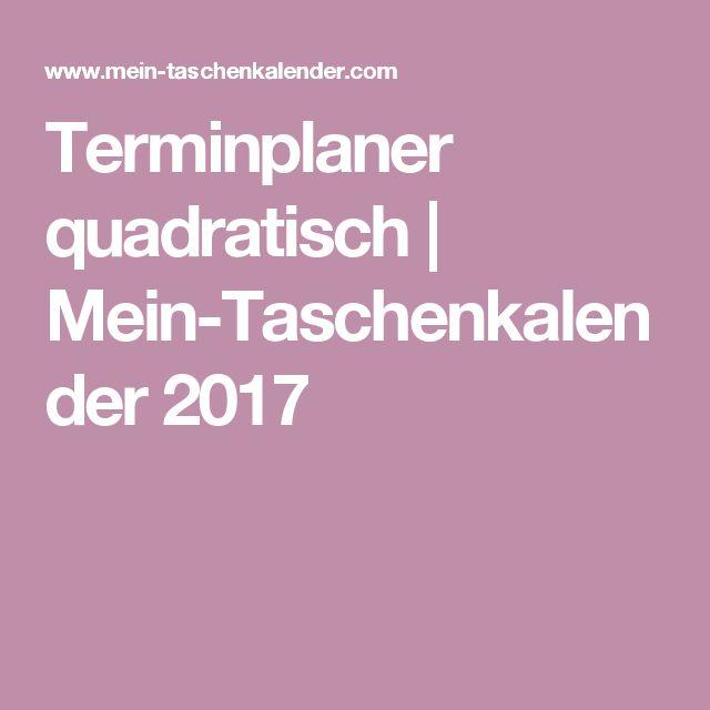 Terminplaner quadratisch | Mein-Taschenkalender 2017