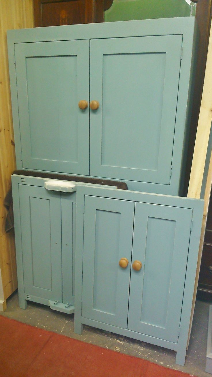 More Reclaimed Pine Painted Cupboards For Utility Or Kitchen Roomspainted In Farrow Ball Oval Room Blue