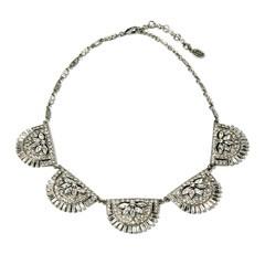 Ben-Amun Crystal Deco Five Station NecklaceCrystals Deco, Ben Amun Bridal, Stations Necklaces, Jewelry Inspiration, Benamun Crystals, Art Jewelry, Ben Amun Crystals, Deco Crystals, Art Deco Necklaces