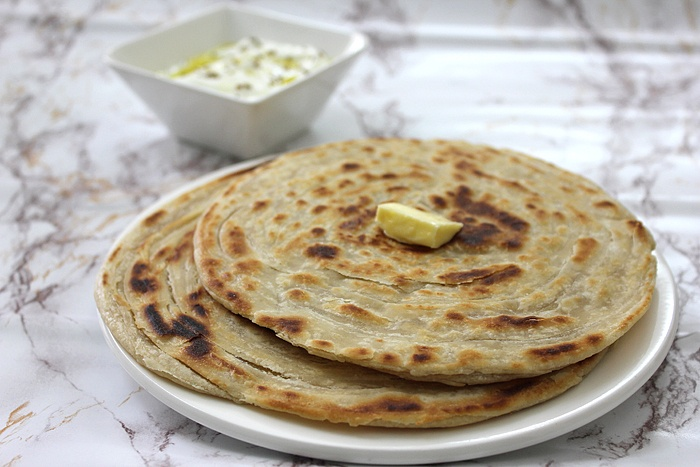 Paratha was no doubt pleasant. This crispy-layered version of paratha ...