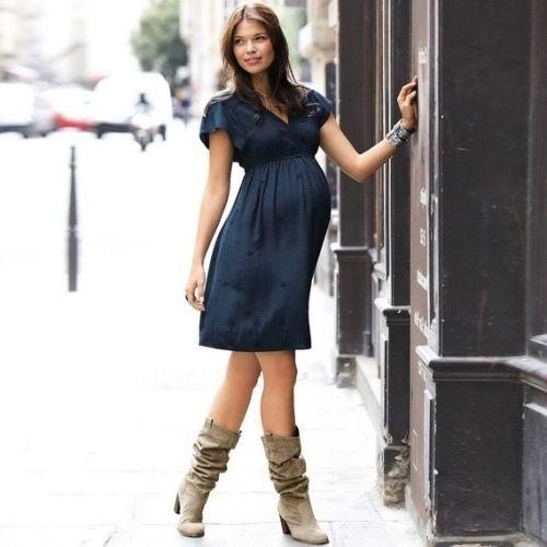Выкройка платья для беременных трикотажное