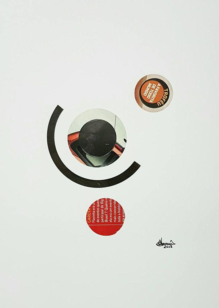 "Saatchi Art Artist Richard Brandão; Collage, ""CIRCLES Nº 021"" #art"