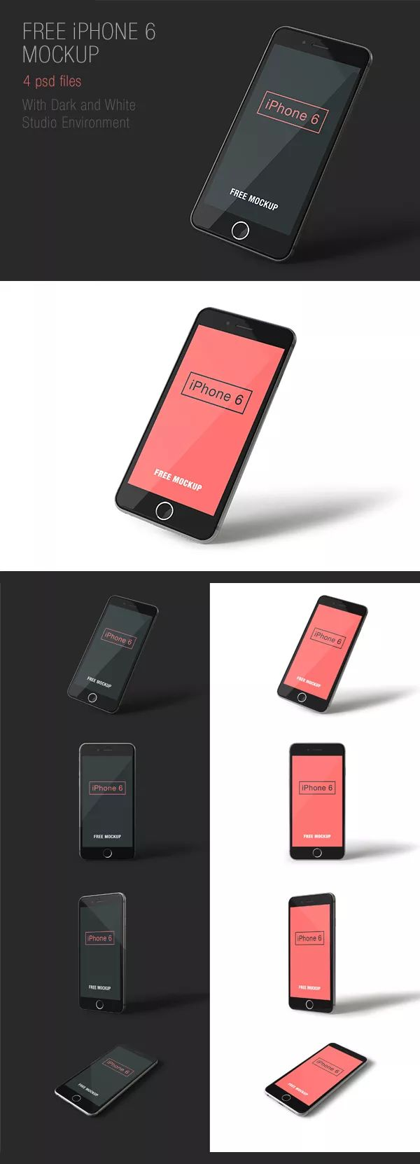 Free iPhone 6 psd Mockups #freebie #psd #mockup #free #design #graphic #resource…