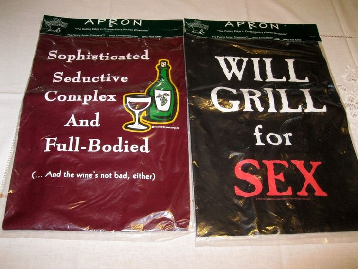 Lot 2 Funny Novelty Apron new in a sealed wrap new aprons #Thefunnyaproncompany