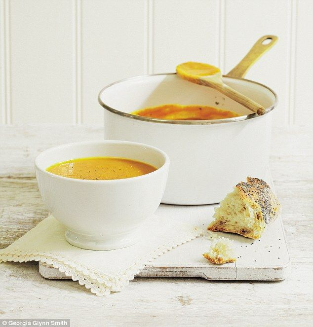 This is no ordinary soup. Roasting the squash, rather than boiling it in a pan, really brings out the flavour.