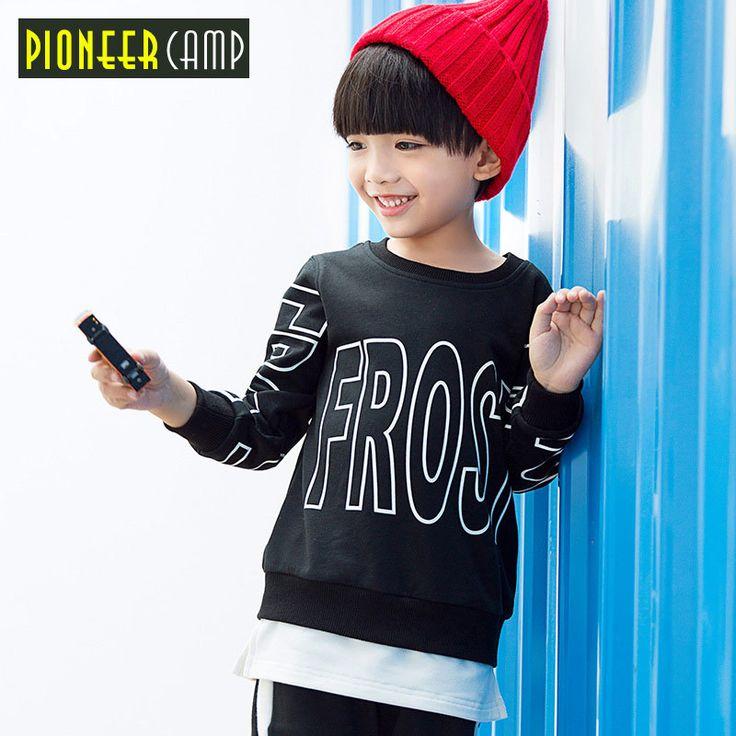Pioneer kids new spring thick t-shirt letter printed fashion stylish hoodies boys tshirt quality cotton t shirt tees BTZ709307 //Price: $33.98 //     ##babyfashion