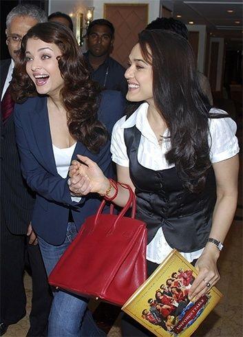 Aishwarya Rai and Preity Zinta   #Bollywood #Celebrities #Fashion