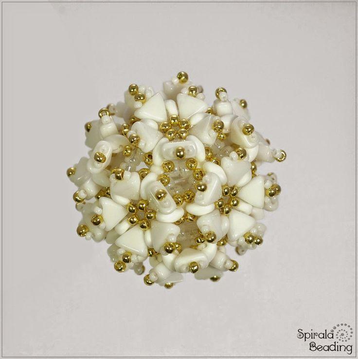Spirala beading: Kheops Flower Beaded Bead