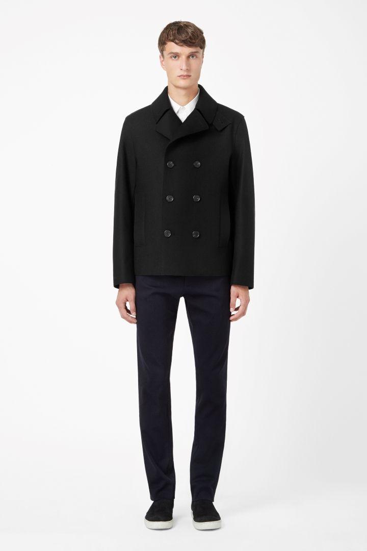 COS   Raw-edge pea coat