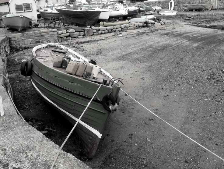 Old fishing boat, Dysart, Fife.