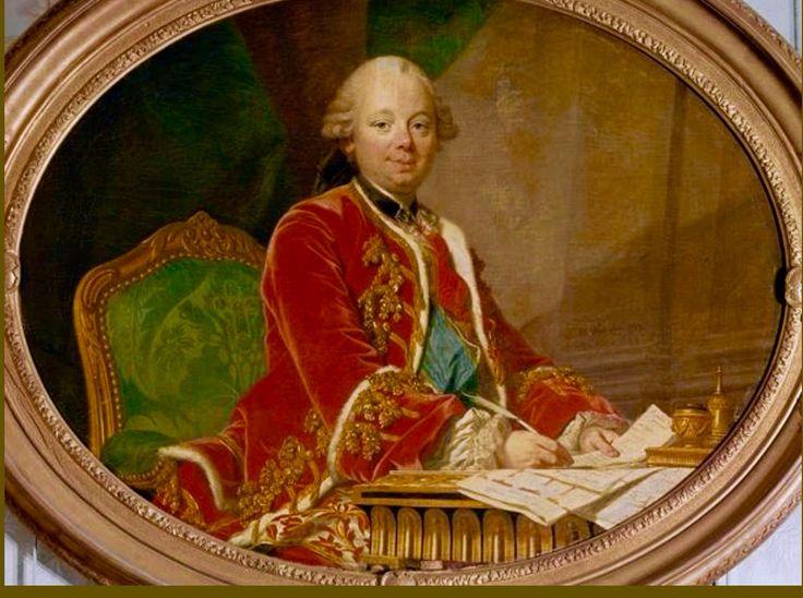 El Duque de Choiseul ,Pimer Ministo a la llegada de María Antonieta a Versalles