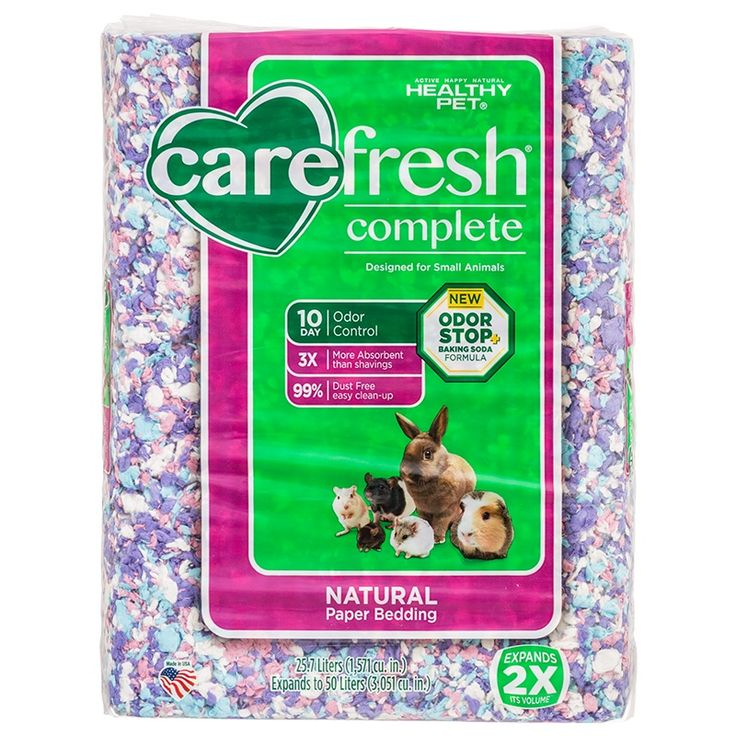 Carefresh Complete Natural Paper Bedding For Small Pets Confetti