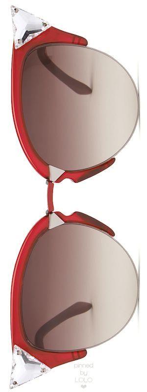 Fendi Iridia Cat-Eye  Fendi Iridia Cat-Eye Crystal-Tip Sunglasses   LOLO❤︎
