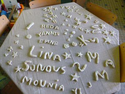 Welkom in het land van letters en woorden: Letters uit zoutdeeg
