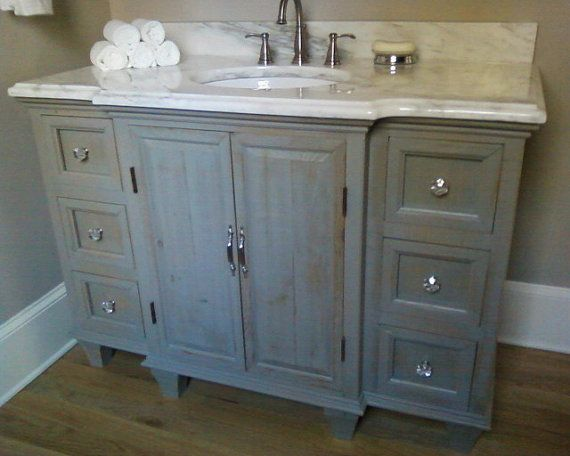 Find This Pin And More On Bathroom Rustic Painted Bathroom Vanity