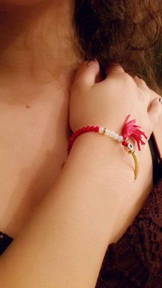 Hey, I found this really awesome Etsy listing at https://www.etsy.com/listing/268176364/red-bracelettassel-bracelet-red