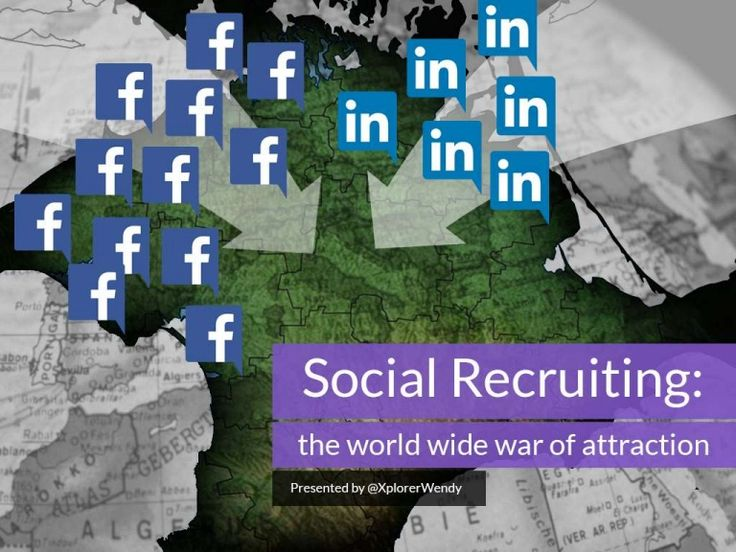 Social Recruitment: the World Wide War of Attraction. How to use social media to identify and research applicants for a job vacancy. Presentation by www.xplore.net