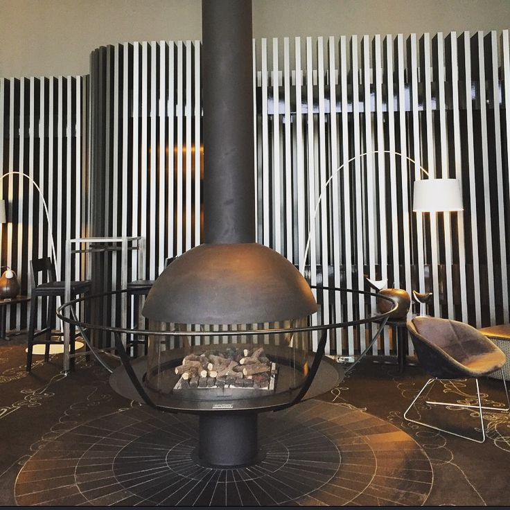 Chimney found of the waiting room of the Sky bar 28. Made by aluminum. It gives charm look to the area.
