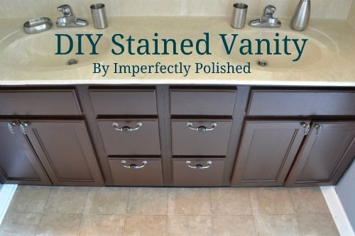 DIY Stained Vanity Tutorial (I can't believe I'm going to tackle this project.. Although excited since its been almost 4 years since I've done a DIY home project!)