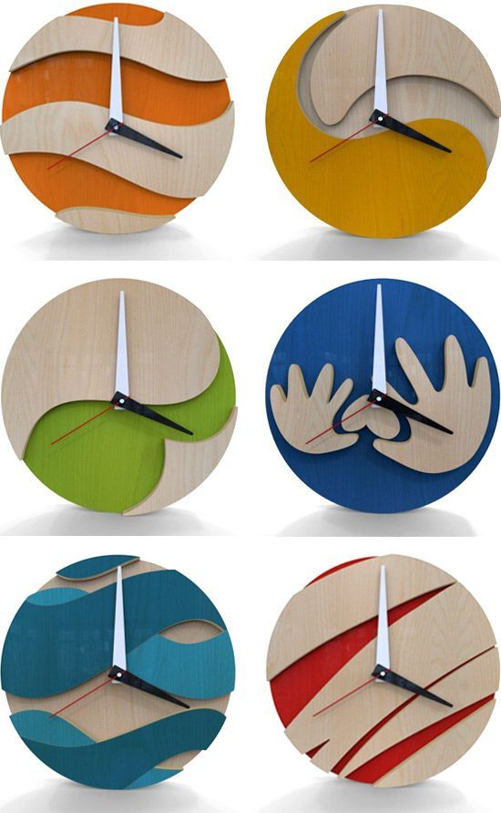 Clocks... I did just get a scroll saw... #pin_it @mundodascasas