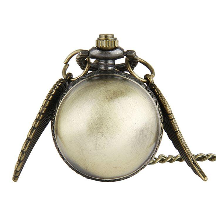 Retro Pocket Watch relogio de bolso Wings Spherical Student Pendant Necklace Pocket Watch for Women Men Gift