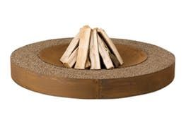 Zen Fire Pit  Contemporary, Rustic  Folk, Industrial, MidCentury  Modern, Traditional, Organic, Art Deco, Metal, Natural Material, Wood, Fireplace Mantels  Accessory by Design Collectif