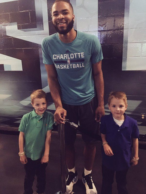 Shannon Spake said thanks to Aaron Harrison because the boys got to meet one of their favorite players.