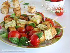Spiedini vegetariani | ricetta buffet freddo