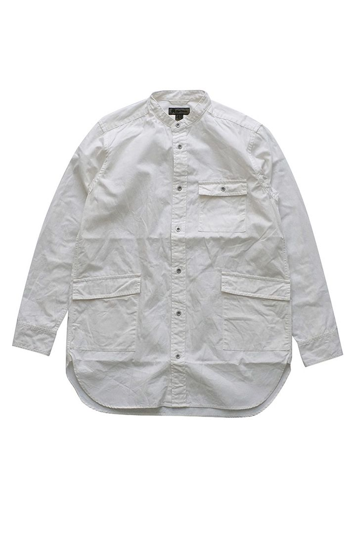 Nigel Cabourn - LONG SHIRT WEATHER CLOTH - WHIT