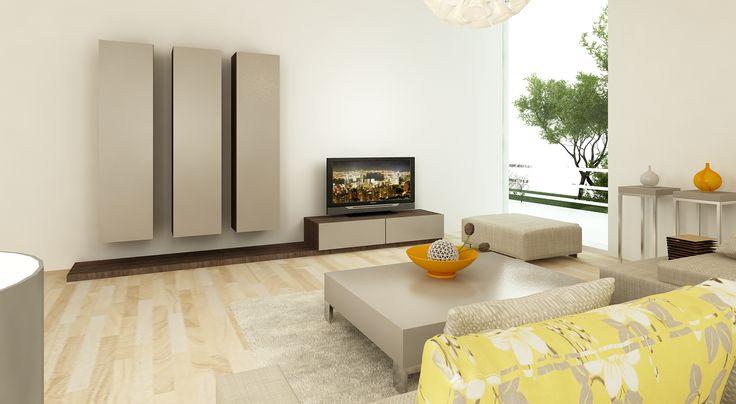 Aparador * Estrutura lateral * Composição armários * Mesa de centro * Composição mesas apoio * Banco * Sofá