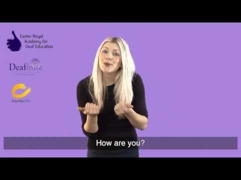 """Learn to Say """"How Are You? and """"I'm Good Thank You"""" in British Sign Language (BSL) - YouTube"""