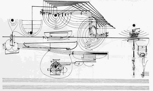 Cornelius Cardew graphic score from Richard Gott review of Cornelius Cardew: A Life Unfinished by John Tilbury