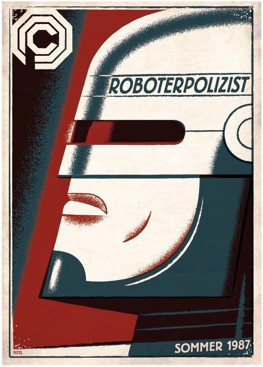 Robocop: Movie Posters, Robocop Poster, Art, Travis Pitts, Movies, Retro, Alternative Movie, Sci Fi, Design