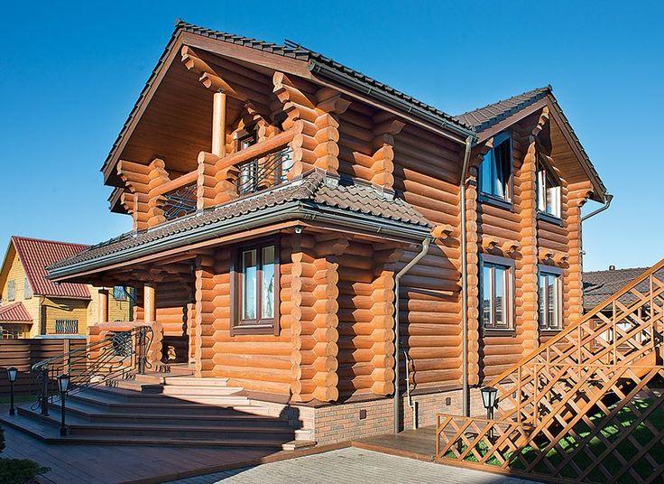 Деревянный коттедж в традиционном русском стиле   Дома из оцилиндрованного бревна   Журнал «Деревянные дома»