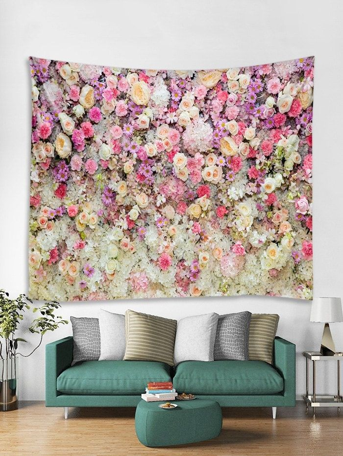 Flowers Print Tapestry Wall Hanging Art Decor Wall Tapestry Tapestry Wall Art Tapestry Wall Hanging