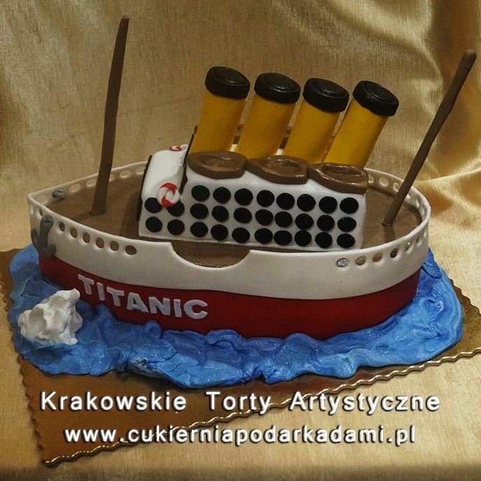 132. Przestrzenny tort Titanic. Titanic 2D cake.