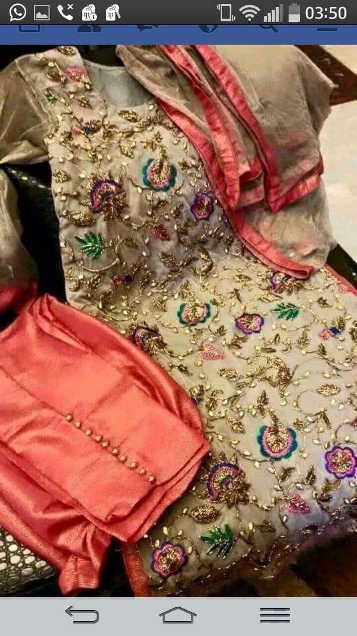 beautiful party wear punjabi suit . visit us https://www.facebook.com/punjabisboutique, for purchase query whatsapp +917696747289 Pinterest : @nivetas Design Studio