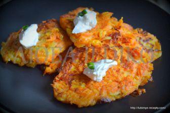 Морковные оладьи 3