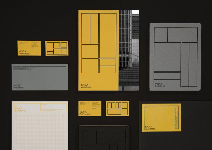 MOAA Architects by Inhouse, New Zealand. #branding #print #design