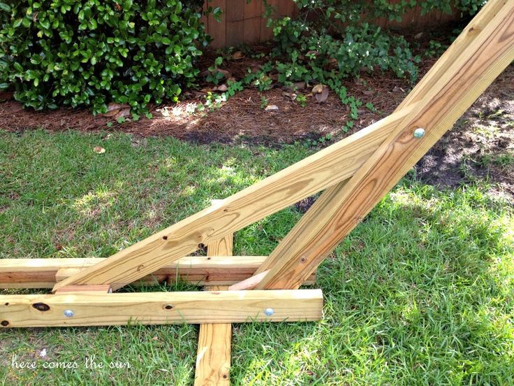 40 diy hammock stand that you can make this weekend hobbyt pinterest holzarbeiten. Black Bedroom Furniture Sets. Home Design Ideas