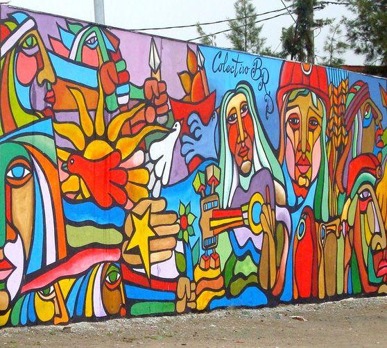 Colectivo Brigada Ramona Parra en Pudahuel, Santiago, Chile