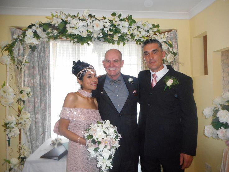 Multi cultural wedding at its best, bride from Peru, groom from Germany