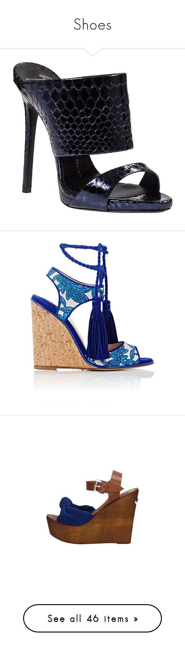 """Shoes"" by erica-tais ❤ liked on Polyvore featuring shoes, sandals, heels, high heels, navy snake, leather sandals, navy high heel sandals, navy blue sandals, high heel platform sandals and metallic platform sandals"