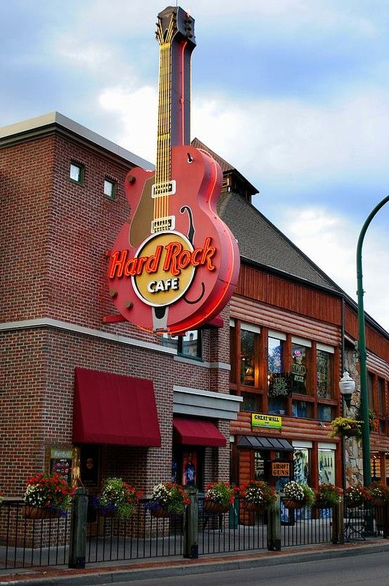 Hard Rock--Gatlinburg, TN Located near Traffic light #3 where the Parkway forks at Rte. 321.  Public parking garage across the street.
