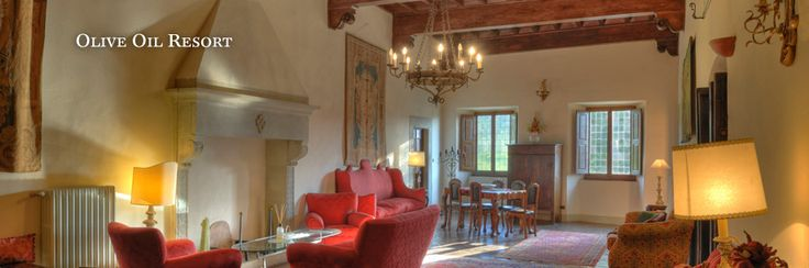 interior of  Villa Campestri Olive oil resort in Tuscany