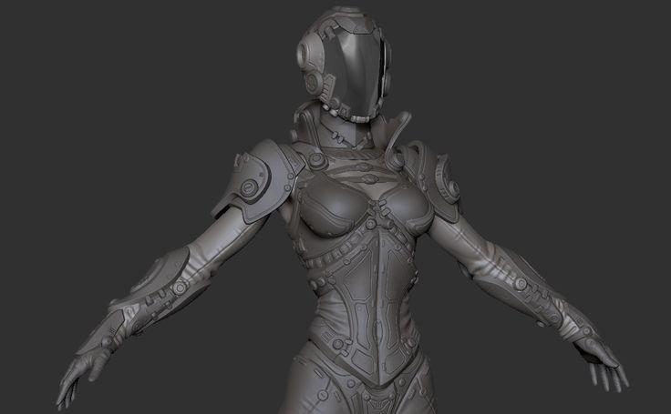 Making Of Sci-fi girl — Компьютерная графика и анимация