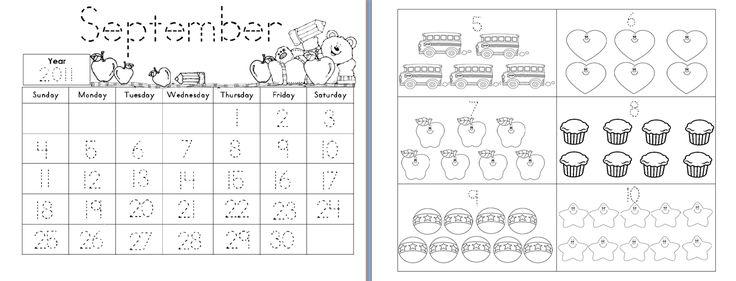 Aloha Kindergarten!: Calendar Math Journals   # Pin++ for Pinterest #