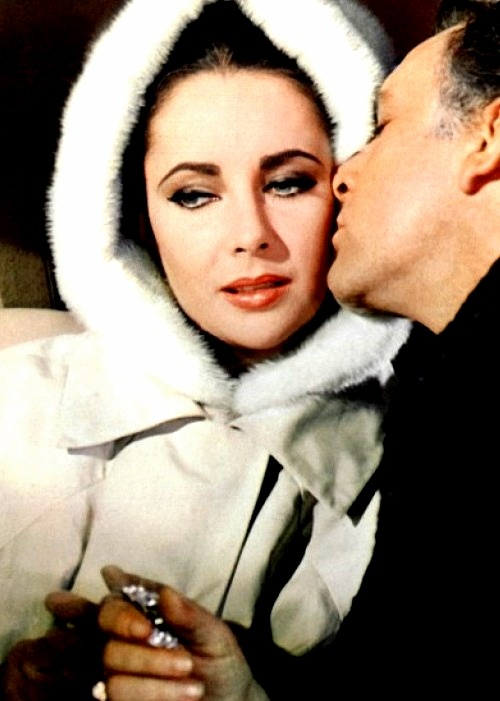 This is Elizabeth Taylor and Richard Burton playing Frances and Paul Andros in The V.I.P.s, 1963. Perfect angsty couple. Of course, they were playing themselves. In the movie they manage to find a way. In real life, unfortunately, they didn't.